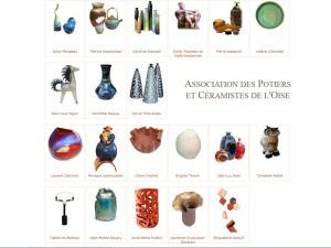 site pour l'association des potiers et céramistes de l'Oise