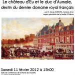 affiche conférence Château d'Eu
