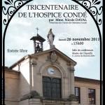 affiche conférence Le tricentenaire de l'Hospice Condé