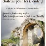 affiche conférence Verneuil un trop beau château pour les Condé