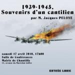 affiche pour la conférence 1939-1945, souvenirs d'un Cantilien