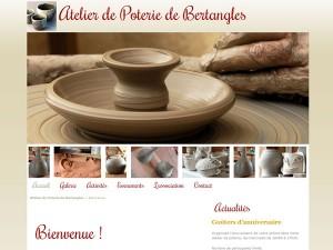 site pour l'atelier de poterie de Bertangles (80)