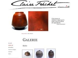 Site pour la céramiste Claire Fréchet