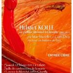 affiche pour la conférence Helmut Kolle