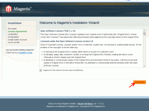 blocage installation Magento,